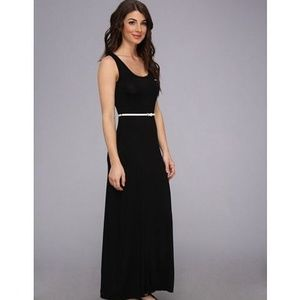Calvin Klein Black Stretch Jersey Maxi Dress NWT